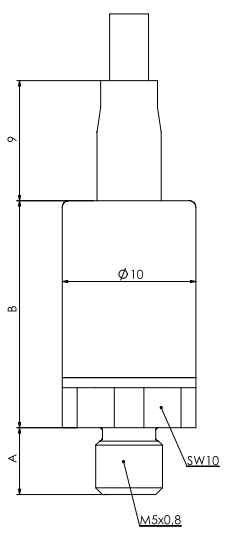 miniatur-Drucksensor-Abmessungen